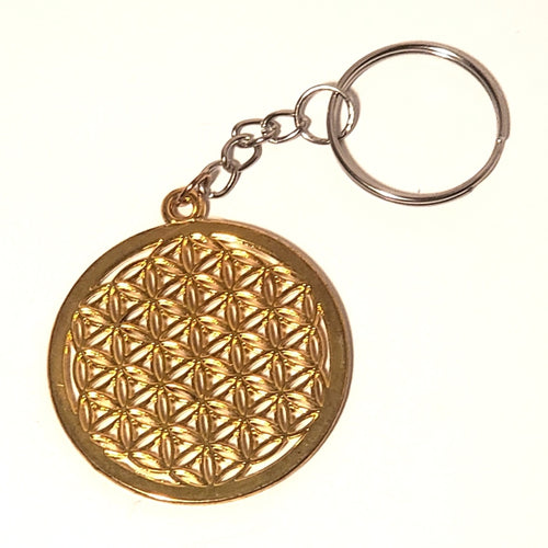 Flower of Life Keychain - Gold or Silver
