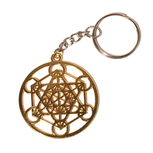 Metatron's Cube Keychain - Gold or Silver
