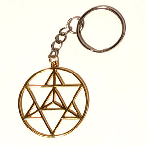 Merkaba Keychain - Gold or Silver
