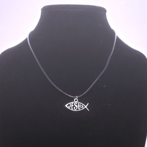 Jesus Fish Necklace - Silver Pendant