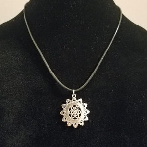 Star Fractal Necklace Seed / Flower of Life Pendant