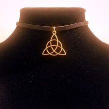 Bronze Triquetra / Celtic Trinity Knot CHOKER Necklace Sacred Jewelry - Paragon Designer Pendants