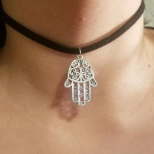 Hamsa Hand CHOKER Necklace Hand of God Symbol Charm Jewelry - Paragon Designer Pendants