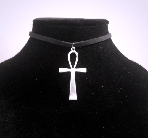 Ankh CHOKER Necklace Large Silver Egyptian Spiritual Charm by PARAGON - Paragon Designer Pendants