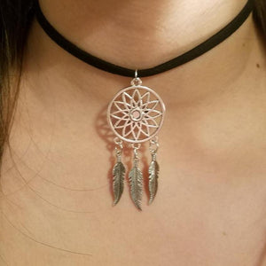 Dream Catcher CHOKER Native American Charm by PARAGON