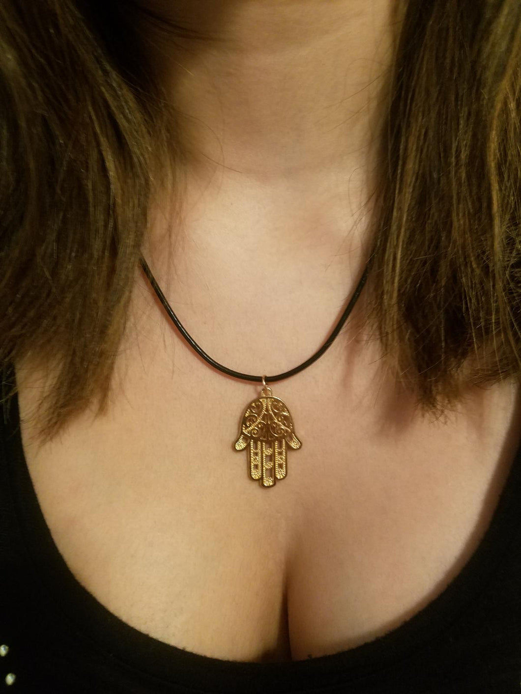 Hamsa Hand Necklace - Hand of God Pendant