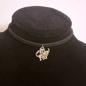 Taurus Choker Necklace Zodiac Symbol Astrology Pendant