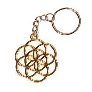 Seed of Life Keychain - Gold or Silver