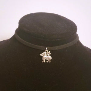 Aries Choker Necklace Zodiac Symbol Astrology Pendant