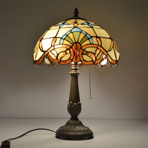 12 Inch Tiffany Table Lamp. - Paruse