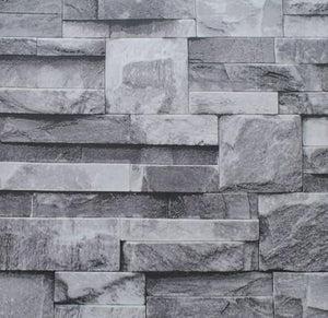 Open image in slideshow, Grey Black Brick Wall Wallpaper - Paruse
