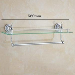 81CCP Series Chrome Polished Crystal & Porcelain Bathroom accessories. - Paruse