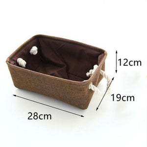 Open image in slideshow, Linen Fabric Clothes Storage Box - Paruse