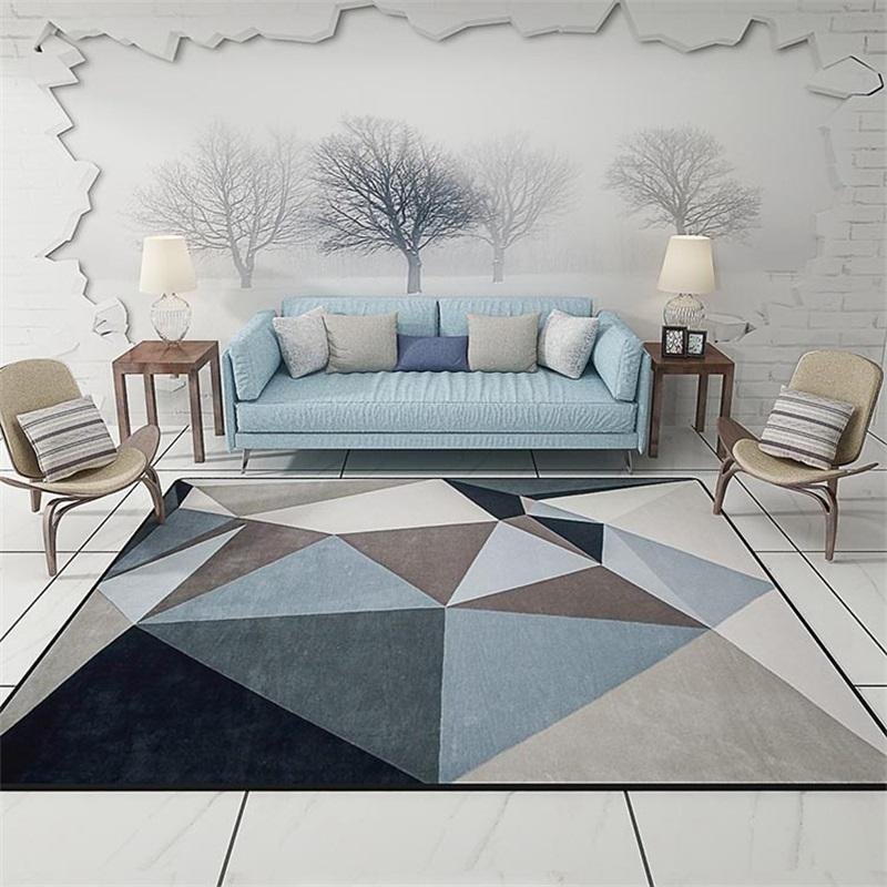 Modern Scandinavian Triangles  Area Rug - Paruse