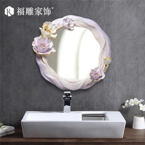 Open image in slideshow, Decorative Round Wall Mirror. - Paruse