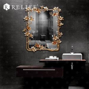 Open image in slideshow, Magnolia Rectangle Wall Mirror. - Paruse
