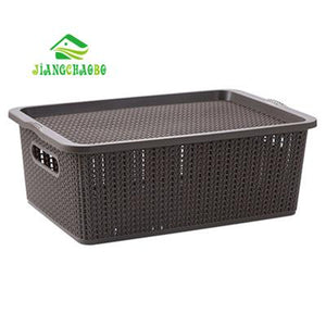 Open image in slideshow, JiangChaoBo Imitation Rattan Covered Storage Box - Paruse