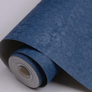 PVC Wallpapers Solid Embossed Blue for Modern Living room - Paruse