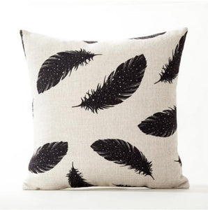 Peacock Feathers Painted Pillow Cases - Paruse