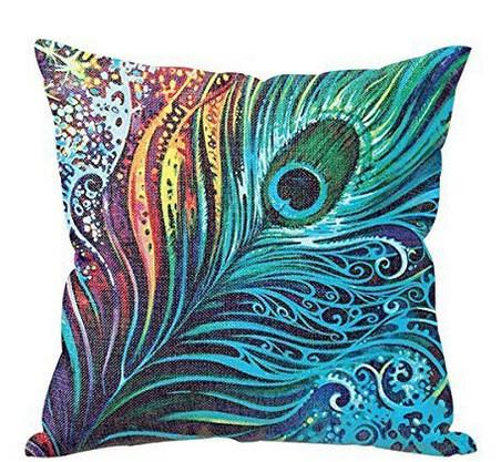 High Quality Feather Printed Pillow Cover - Paruse