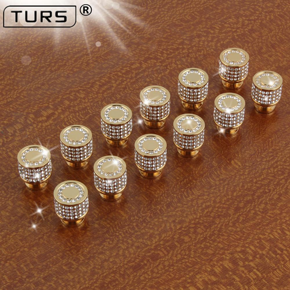 Crystal Brass Round Cabinet Door Knobs and Handles. - Paruse