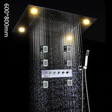 Multi function Led shower faucet set with message body jets - Paruse