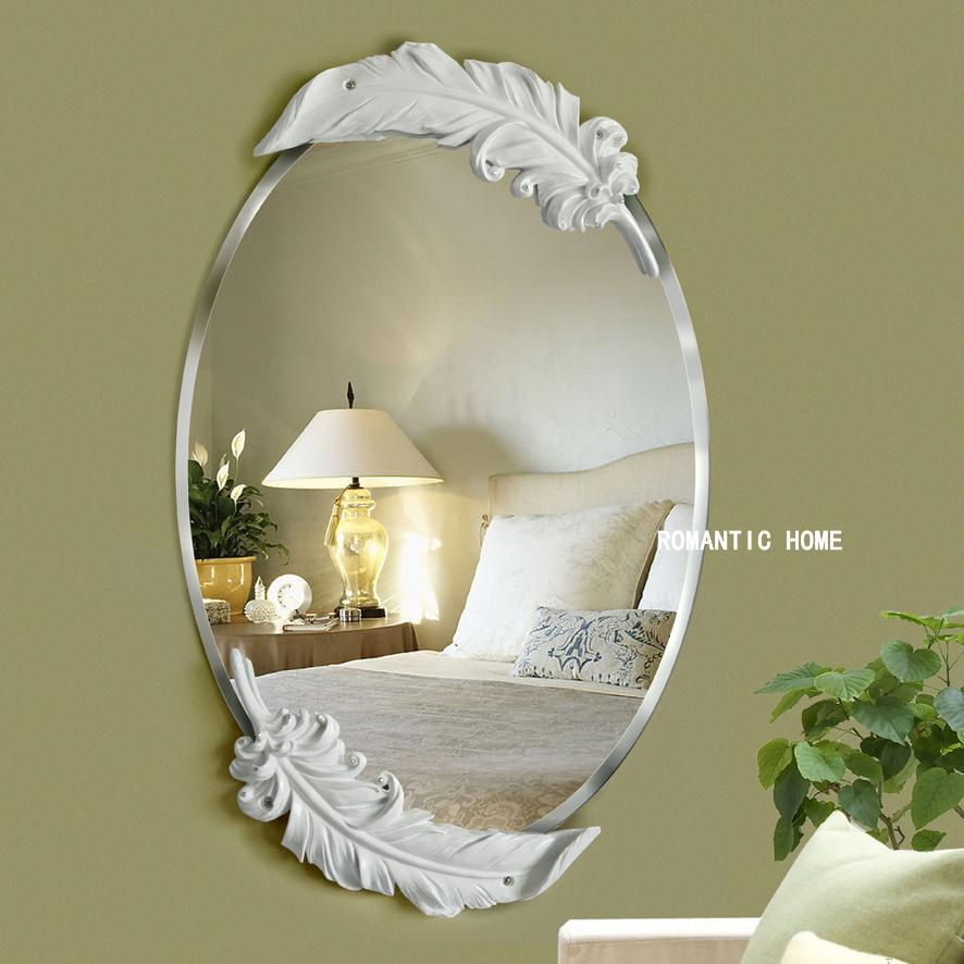 European waterproof white feather mirror. - Paruse