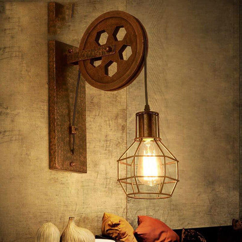 Lifting pulley wall light - Paruse