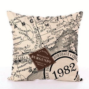Open image in slideshow, Europe Maps Series Style Printed Pillow Cover - Paruse