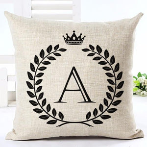 Open image in slideshow, Alphabet Letters Patterns Throw Pillow Cover - Paruse