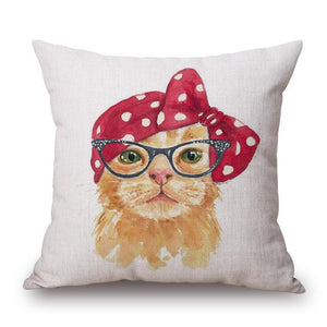 Open image in slideshow, Cute Dog/ Cat/ Flamingo Decorative Pillow Covers - Paruse