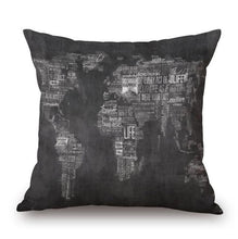 European Plate Map Art Pillow Cases - Paruse