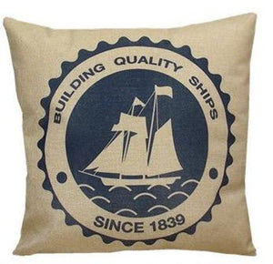 Open image in slideshow, Vintage Smooth Sailing Decorative Pillows - Paruse