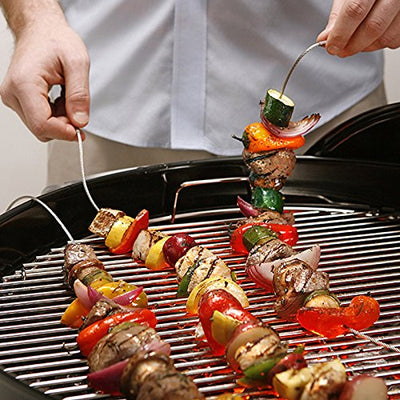 Easy Marinate Flexible Stainless Steel Grilling Skewers