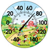 Indoor/Outdoor Dial Thermometer- Barn Scene
