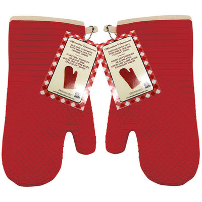Silicone Oven Mitt with Quilted Lining