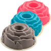 Premium Two-Tone Silicone Rose Cake Bundt Pan