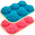 Silicone 6 Cup Rose Shaped Cupcake/Soap Mold Pan