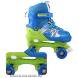 New Unisex PP and PVC Wheel Indoor Outdoor Roller Children Tracer Adjustable Double Row Skate