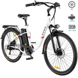 VIVI 26 Inch Wheel 350W Electric Cruiser Bike with Removable 36V 8Ah Battery