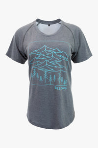 Belong - Women's Ridge Runner Tek Tee (Charcoal)
