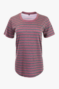 Women's Torrey's Striped T-Shirt (Maroon)