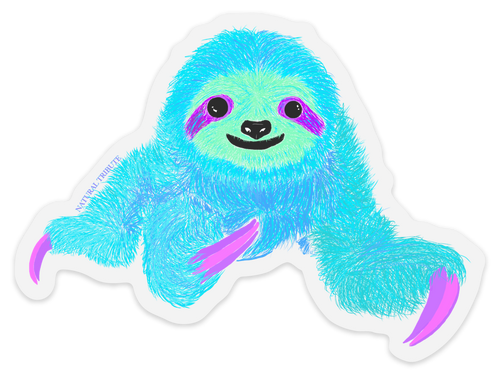 Happy Sloth Artist Series Sticker