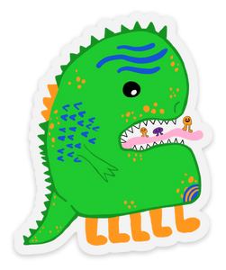 Holly's Little Monster Sticker / Green