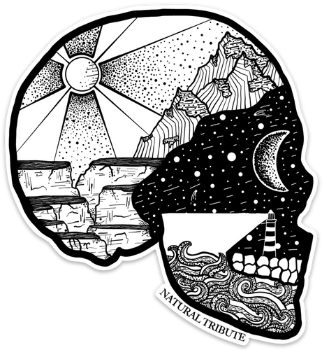 Nature Head Sticker