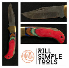 Rill Simple Red Skinner Folding Knife