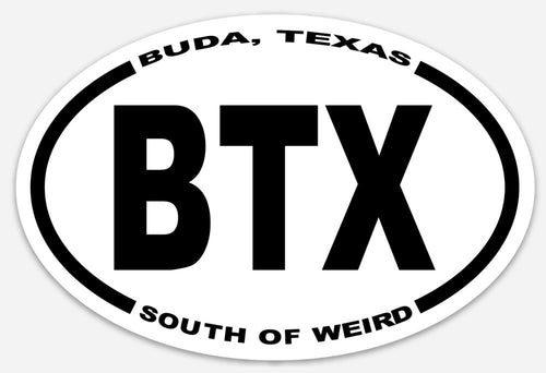 Buda Texas Sticker