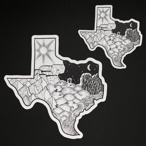 Texas series sticker