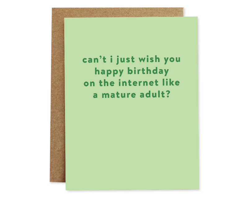 Like A Mature Adult? Card