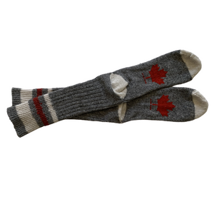 Canadian Maple Leaf Wool Sock